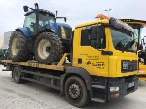 Transporte de todo tipo de maquinaria de obras pública